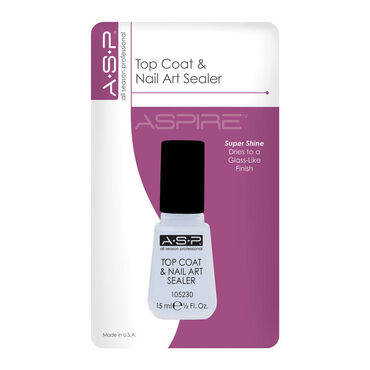ASP Top Coat and Nail Art Sealer 14ml