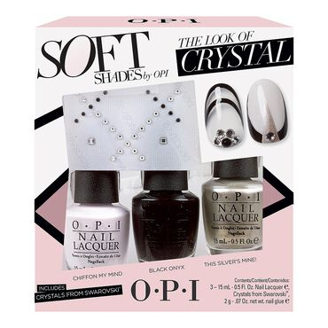 OPI Nail Lacquer Soft Shades Collection The Look of Crystal Trio Pack