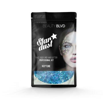 Beauty BLVD Stardust Pro Face, Hair & Body Glitter Kit Neptune Multi-colour 75g