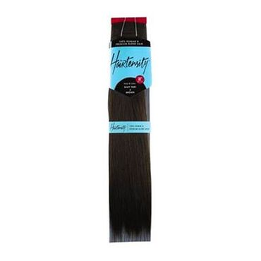 Hairtensity Weft Full Head Synthetic Hair Extension 18 Inch - 4 Brown