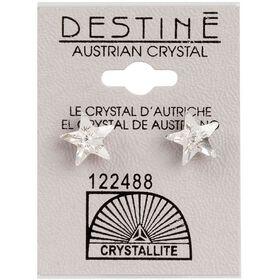 Crystallite Star-shaped Ear Studs 10mm