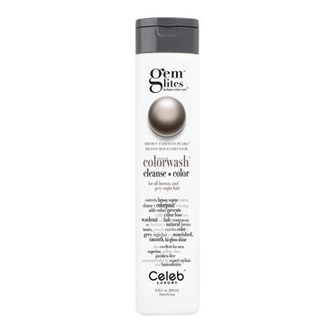 Celeb Luxury Gem Lites Semi Permanent Colourwash Shampoo Brown - Tahitian Pearl 244ml