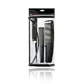 Salon Services Six Piece Comb Set Black