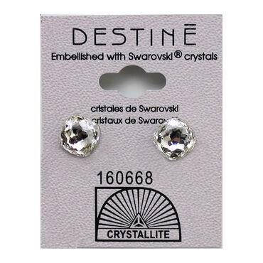 Crystallite Textured Square Stud Earrings