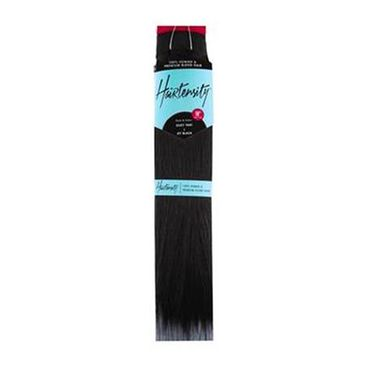 Hairtensity Weft Full Head Synthetic Hair Extension 18 Inch - 1 Jet Black