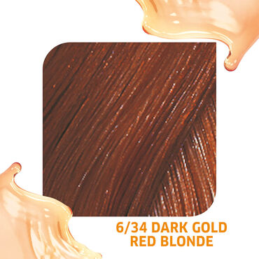 Wella Professionals Colour Fresh Semi Permanent Hair Colour - 6/34 Dark Gold Red Blonde 75ml