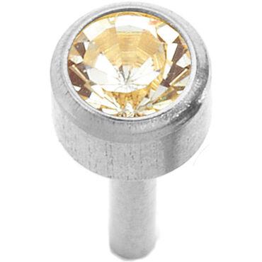 Caflon Regular Bezel Silver April Piercing Stud 1 pair