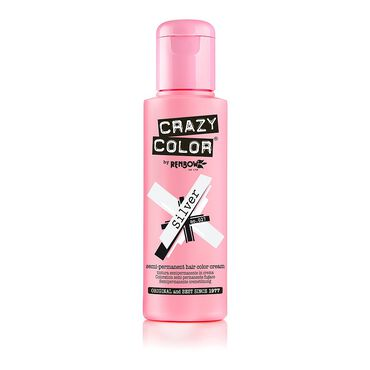 Crazy Color Crazy Color Semi Permanent Hair Colour Cream - Silver 100ml
