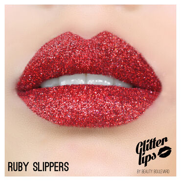 Beauty BLVD Glitter Lips Ruby Slippers Red 3g