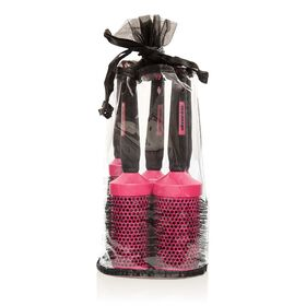 Salon Services Ceramic Brush Set Pink