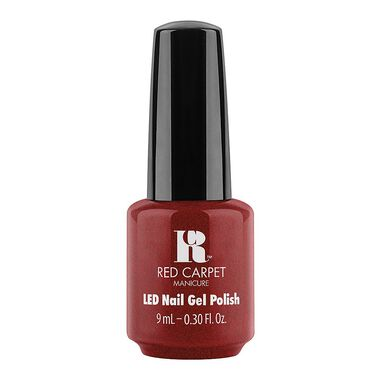 Red Carpet Manicure Gel Polish Fantasy Runway Collection - Brick Red Fine Glitter 9ml
