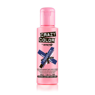 Crazy Color Semi Permanent Hair Colour Cream - Sapphire 100ml
