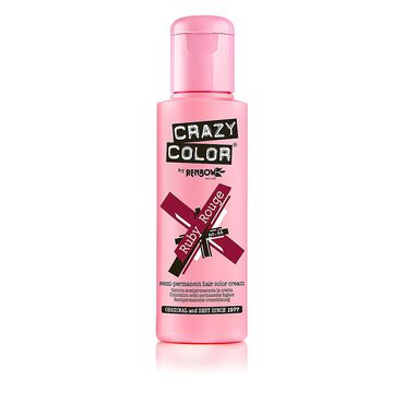 Crazy Color Semi Permanent Hair Colour Cream - Ruby Rouge 100ml