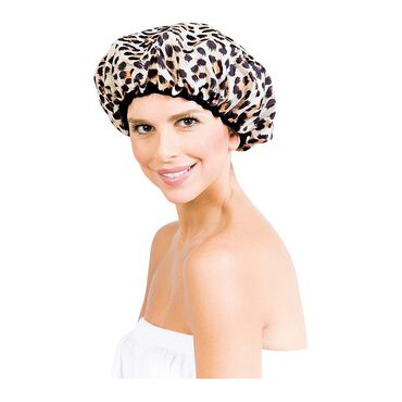 Betty Dain Reversible Shower Cap Safari Spots