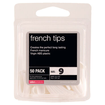 Salon Services French Tips Size 9 Pack of 50