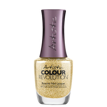 Artistic Disco Nights Festive Lights Collection Colour Revolution Nail Polish - Yank My Gold Chain 15ml