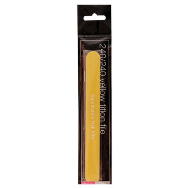 Salon Services Tiflon Nail File Yellow 240 Grit