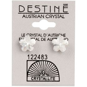 Crystallite Clear Flower-shaped Ear Studs 10mm