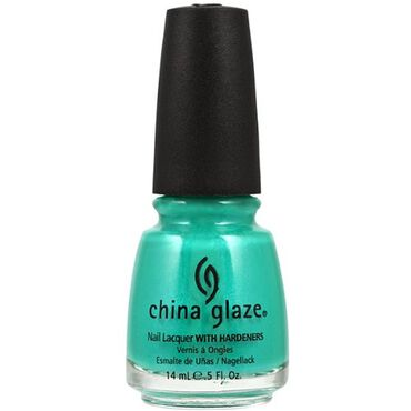 China Glaze Nail Lacquer - Turned Up Turquoise 14ml