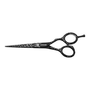 Jaguar Silver/Black Wild Temptation 5.5 Hairdressing Scissors with Jaguar key-chain
