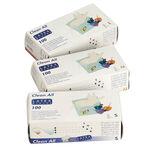 Sibel White Powder Free Latex Disposable Gloves, Medium, Pack of 100