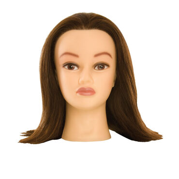 Salon Services Kate 14 Brunette Manikin Head