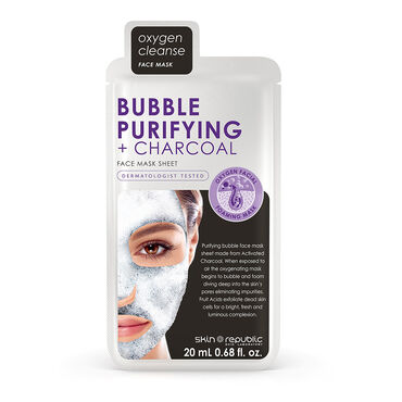 Skin Republic Bubble Cleansing & Purifying Charcoal Face Sheet Mask, 20ml