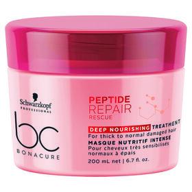 Schwarzkopf Professional Bonacure Peptide Hair Repair Rescue Deep Nourishing Treatment 200ml