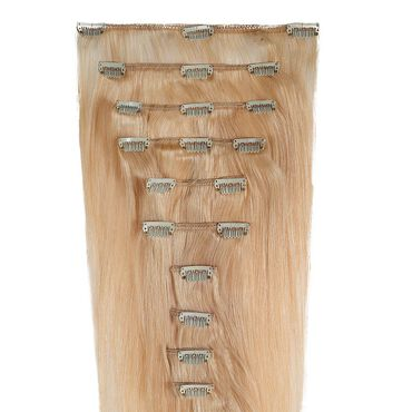 Wildest Dreams Clip In Full Head Human Hair Extension 18 Inch - 613 Blondie Blonde