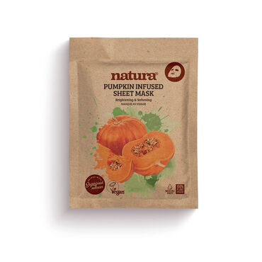 Natura Pumpkin Infused Sheet Mask 22ml