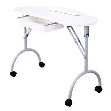 Salon Services Curved Portable Nail Station