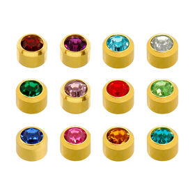 and itm gold stud is pairs s hypoallergenic ear ball piercing image studs loading earrings