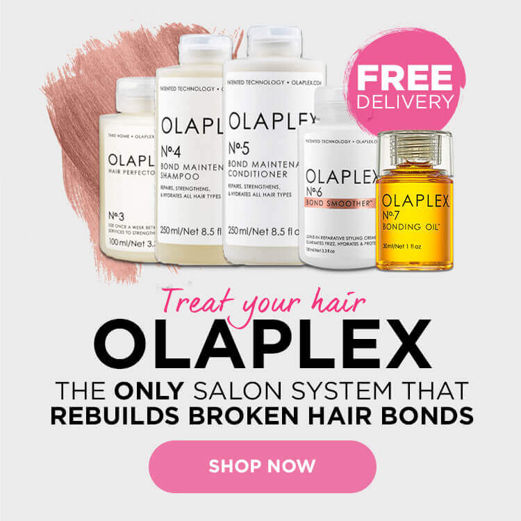Back in stock! Treat your hair with Olaplex. The only salon system that rebuilds broken hair bonds.