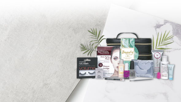 Receive a FREE beauty bag when you spend £50 or more on Beauty and Nail products
