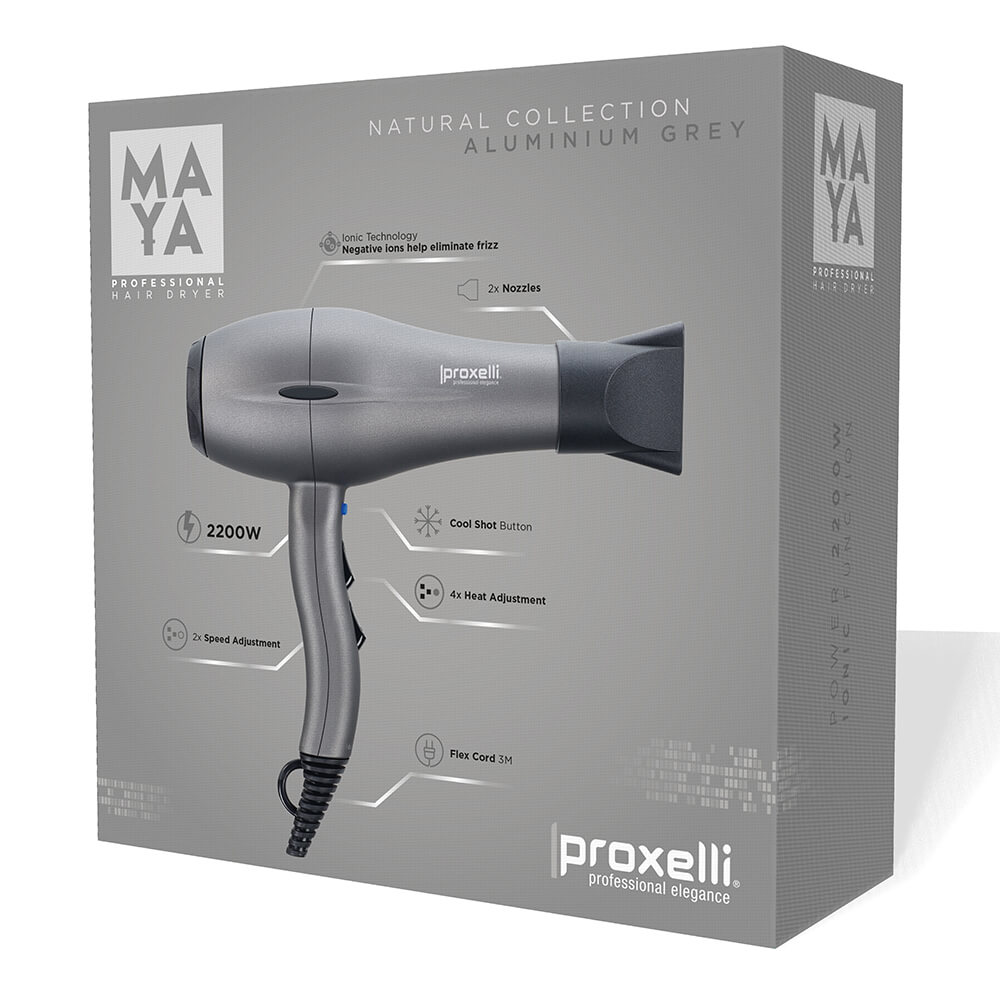Body Care & Cosmetics|Hair Care & Shampoo|Hair Styling Equipment Proxelli MAYA Hairdryer Aluminium