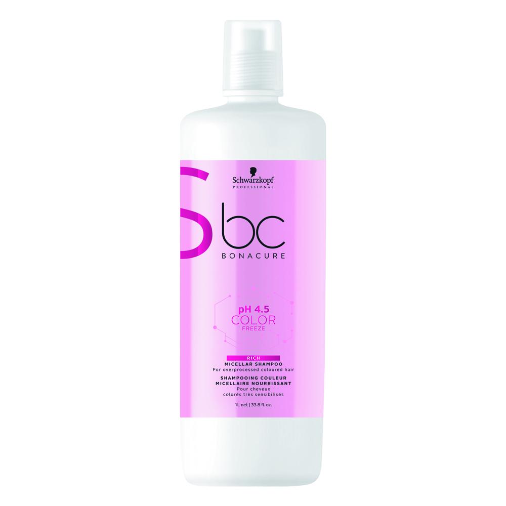 Schwarzkopf Professional Bonacure pH 4.5 Color Freeze Micellar Rich  Shampoo 1L