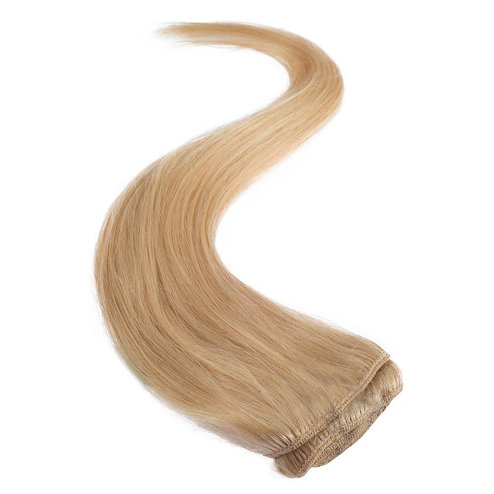 Wildest Dreams Clip In Full Head Human Hair Extension 18 Inch - 24 Sandy Blonde