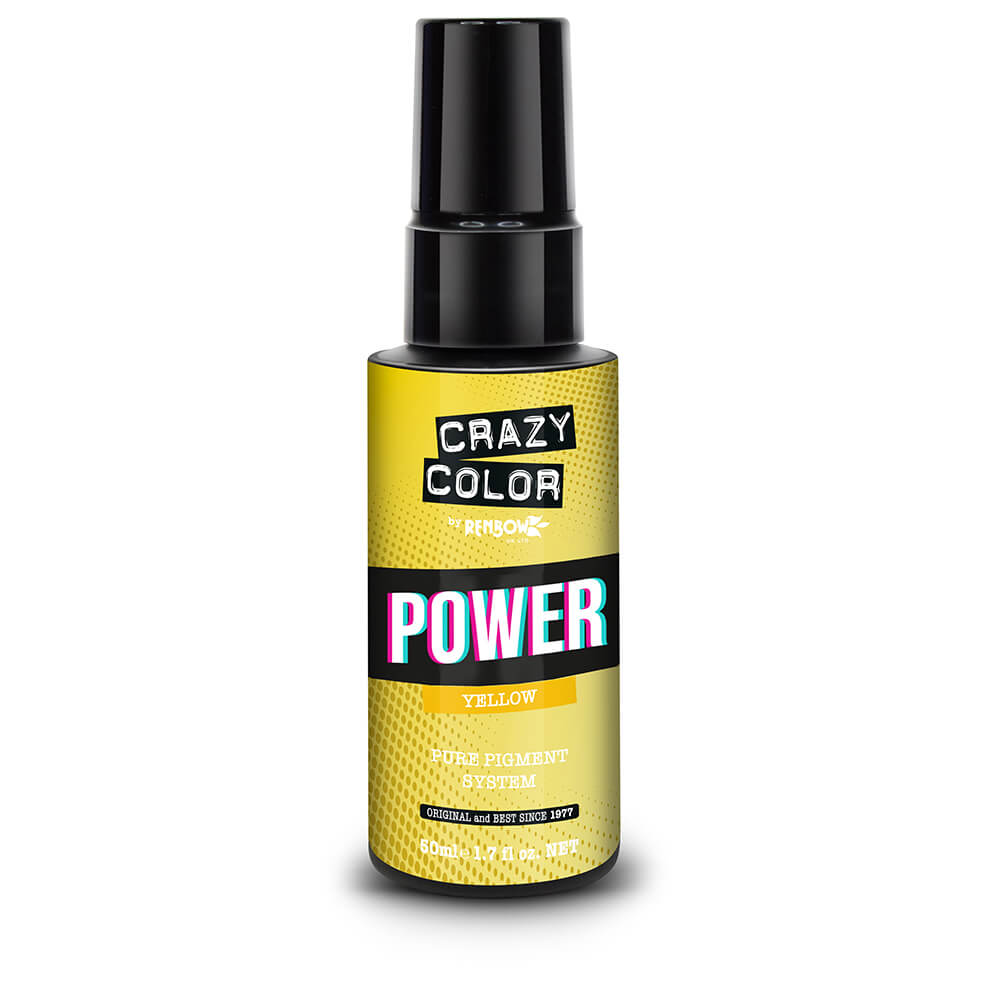 Crazy Color Power Pure Pigment Drops, Yellow, 50ml