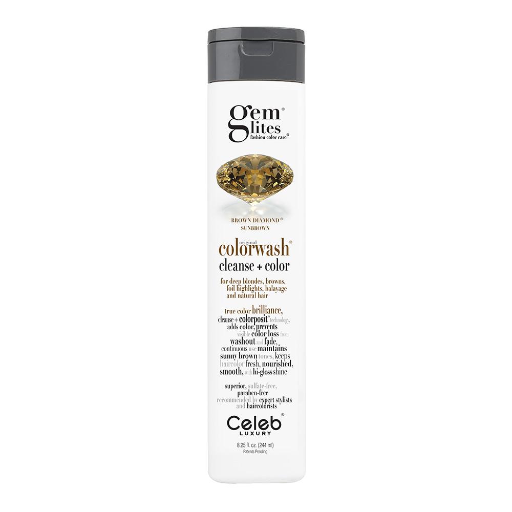 Celeb Luxury Gem Lites Semi Permanent Colourwash Shampoo Brown - Brown Diamond 244ml