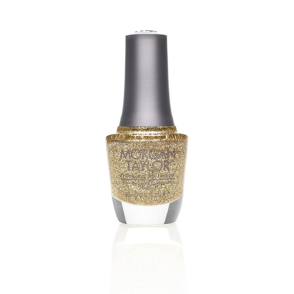 Morgan Taylor Long-lasting, DBP Free Nail Lacquer - Glitter And Gold 15ml