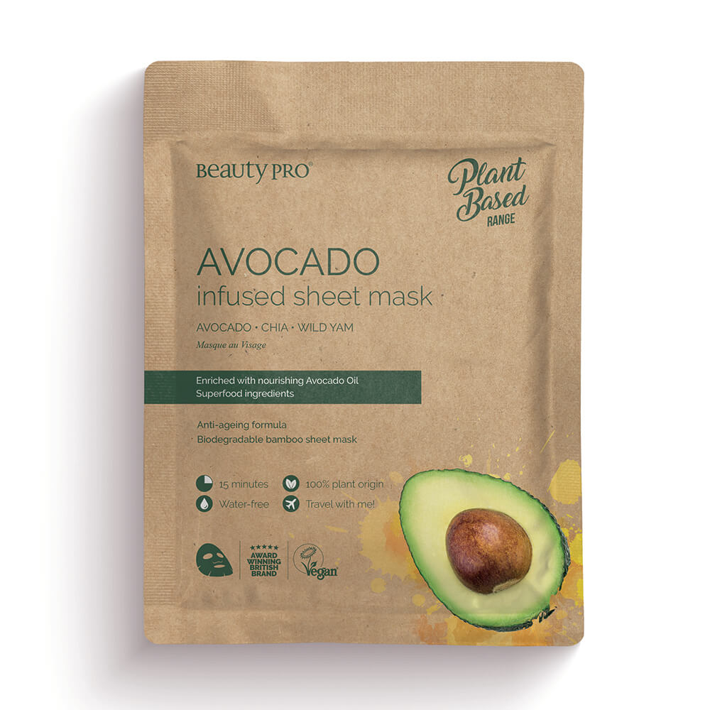 Beauty Pro Natura Avocado Infused Sheet Mask 25ml