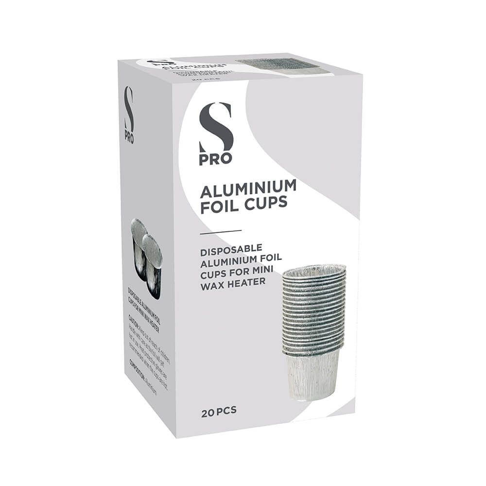 S-PRO Mini Aluminium Foil Cups, Pack of 20