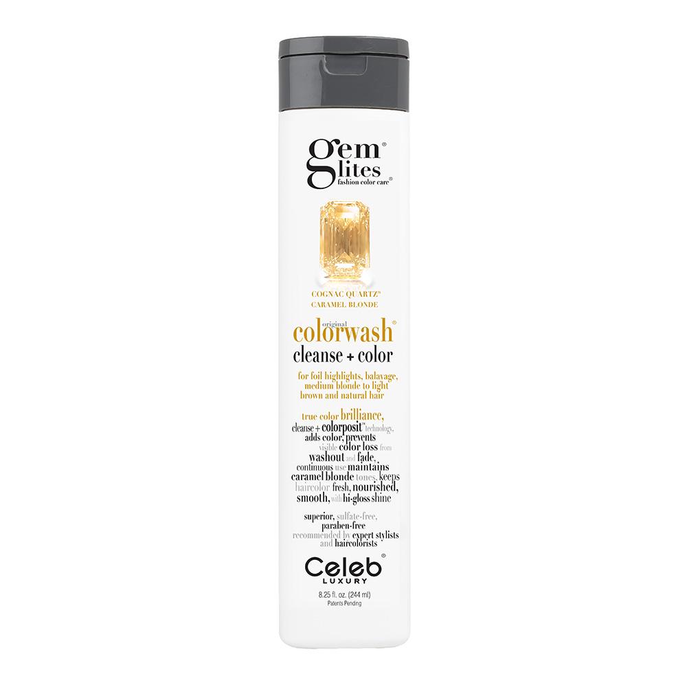 Celeb Luxury Gem Lites Semi Permanent Colourwash Shampoo Blonde - Cognac Quartz 244ml