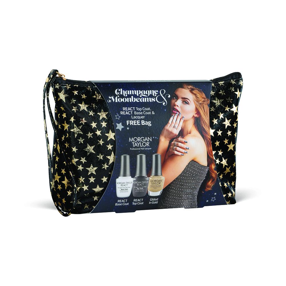 Morgan Taylor Nail Lacquer Champagne & Moonbeams Collection React Trio Kit