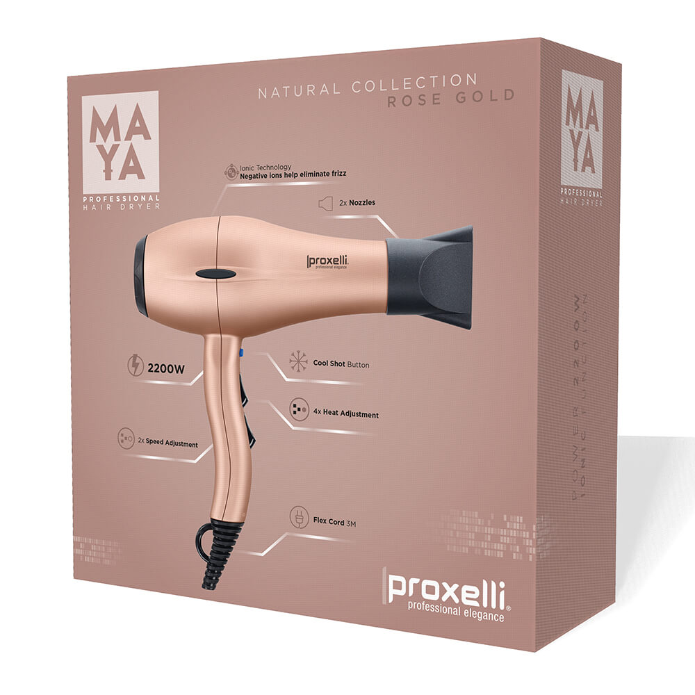 Body Care & Cosmetics|Hair Care & Shampoo|Hair Styling Equipment Proxelli MAYA Hairdryer Rose Gold