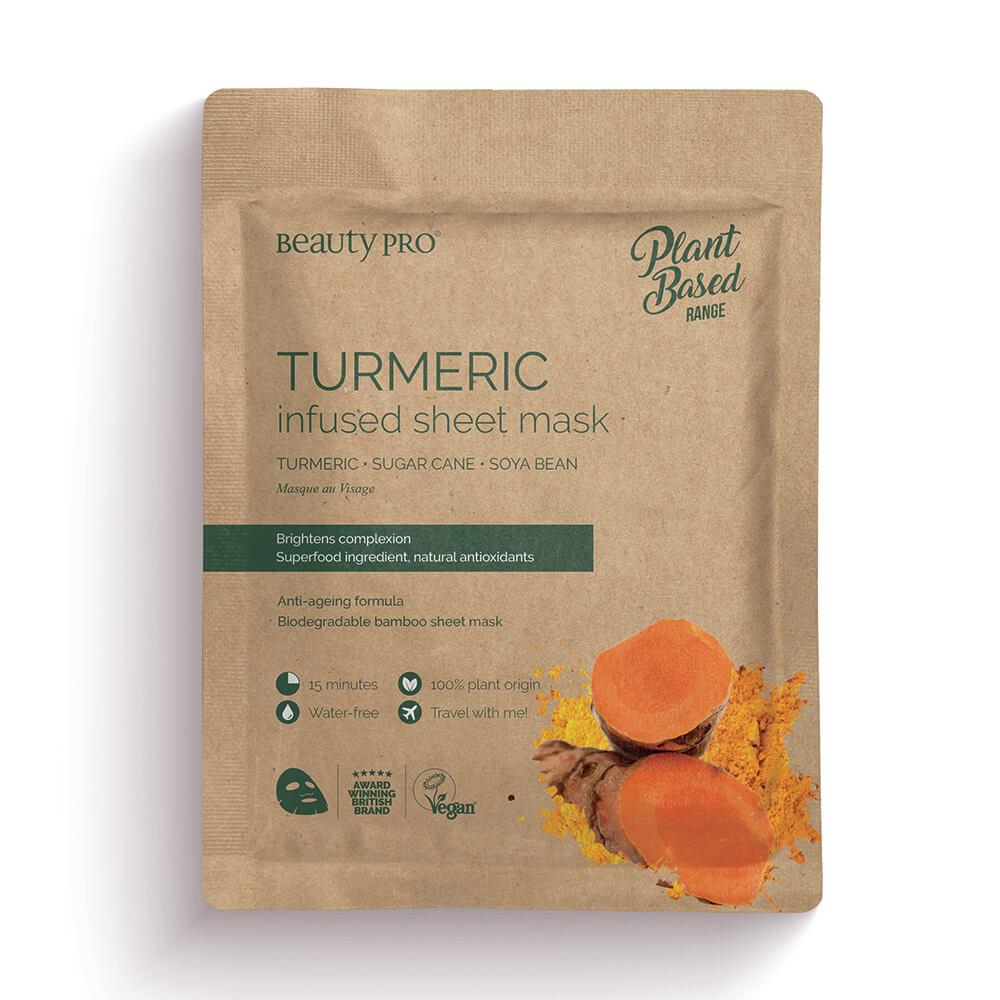 Beauty Pro Natura Turmeric Infused Sheet Mask 25ml