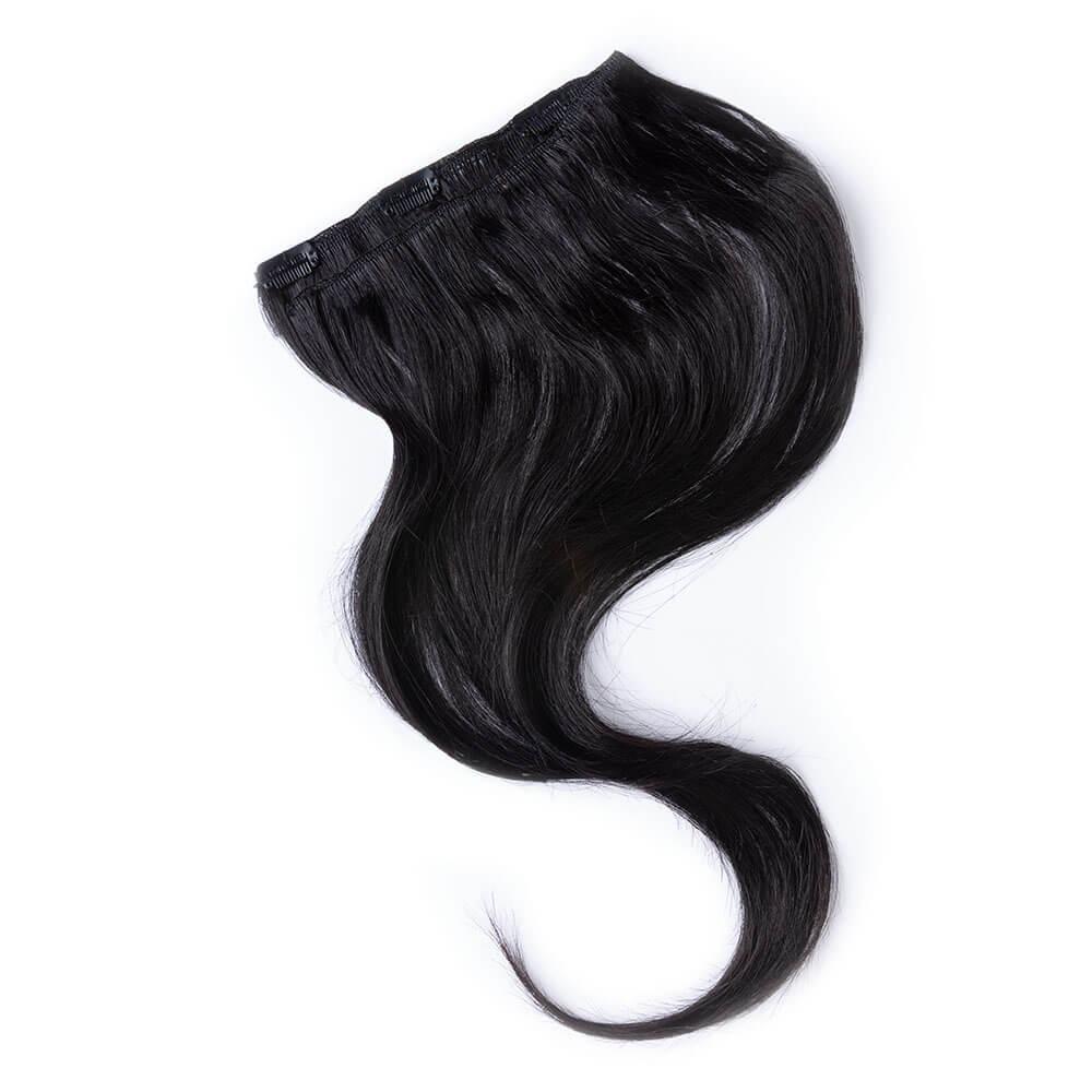 Wildest Dreams Clip In Full Head Human Hair Extension 18 Inch - 1 Blackest Black